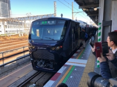 新宿行きに乗る