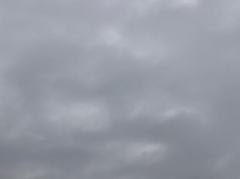 2019年の冬至は曇り空