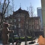 大晦日の東京駅前にて…