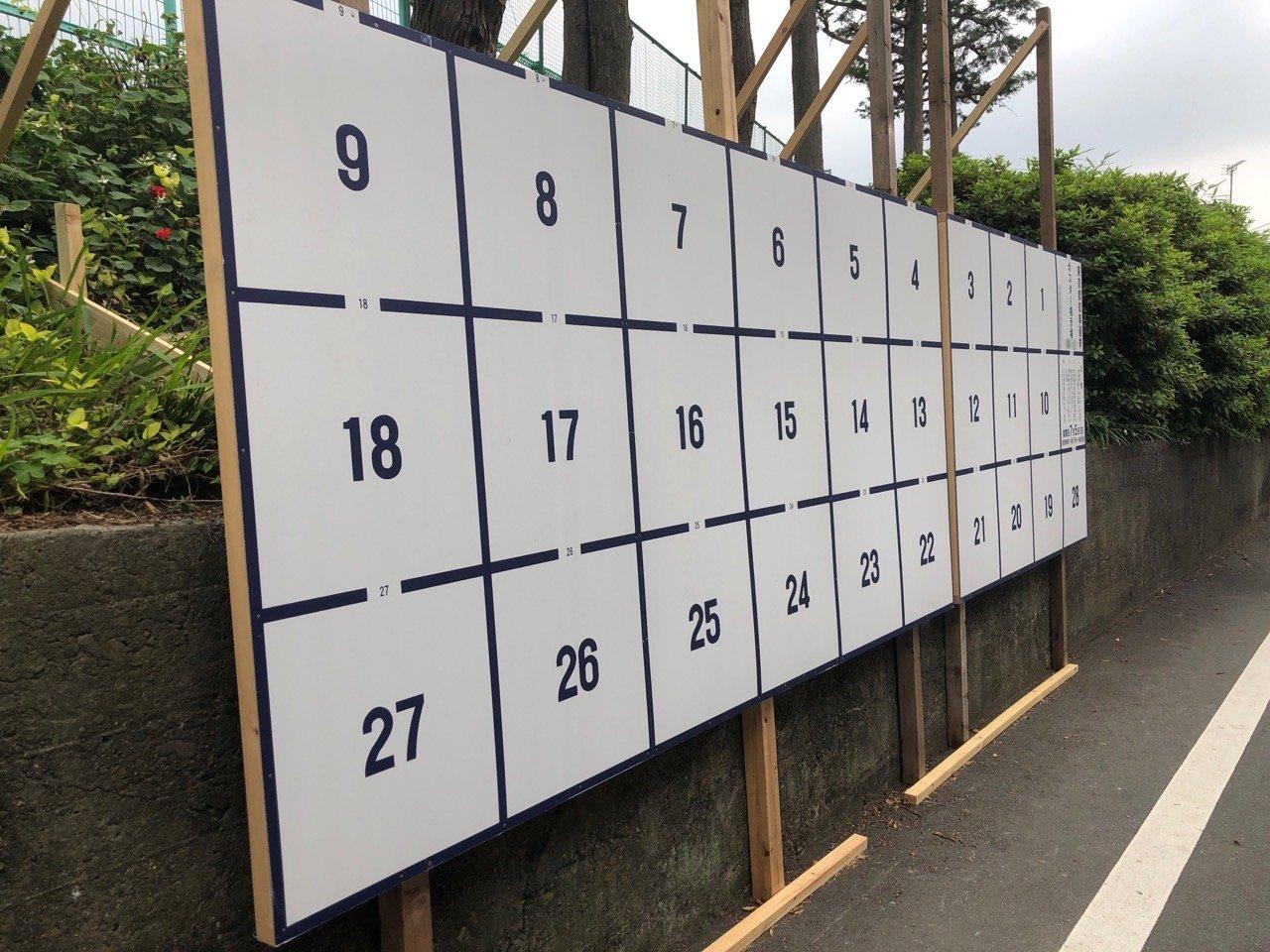 今回の都知事選のポスター掲示場